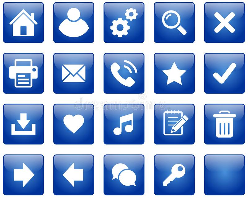 Boutons Web / icônes illustration libre de droits