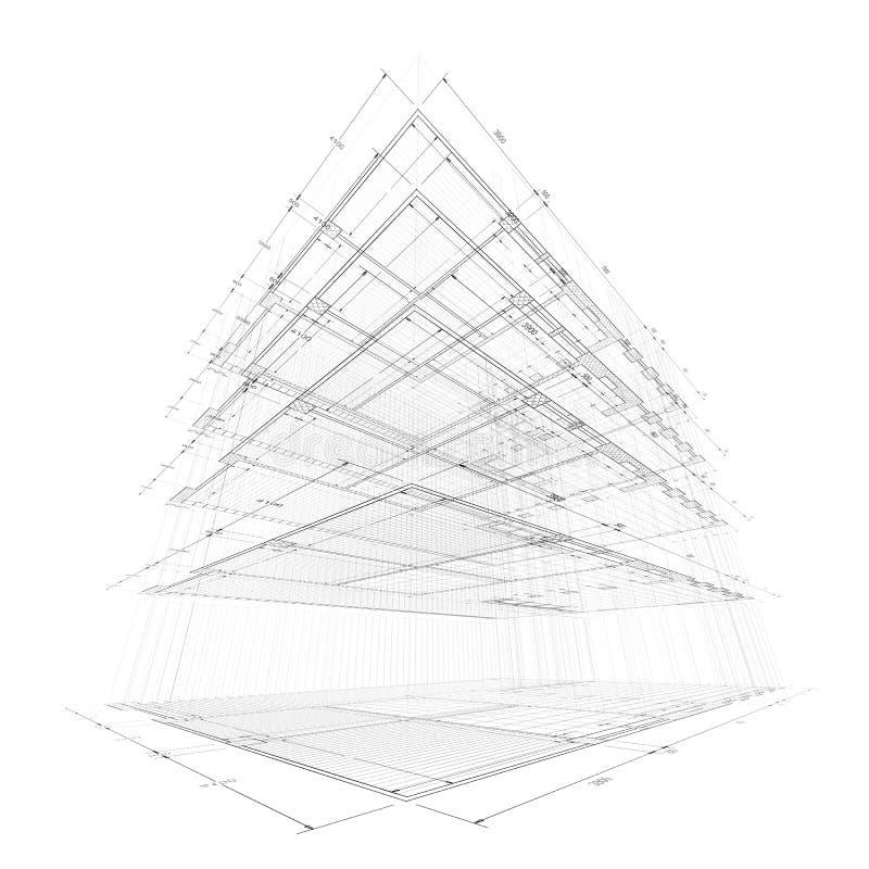 Bouw in architectuur royalty-vrije illustratie