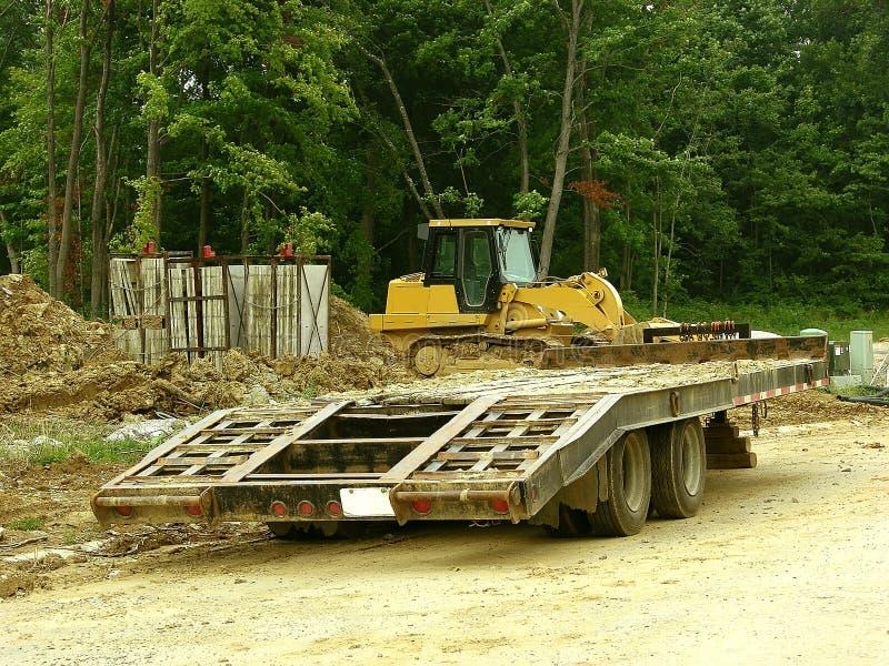 Bouw - de Vervoerder van de Aanhangwagen stock foto