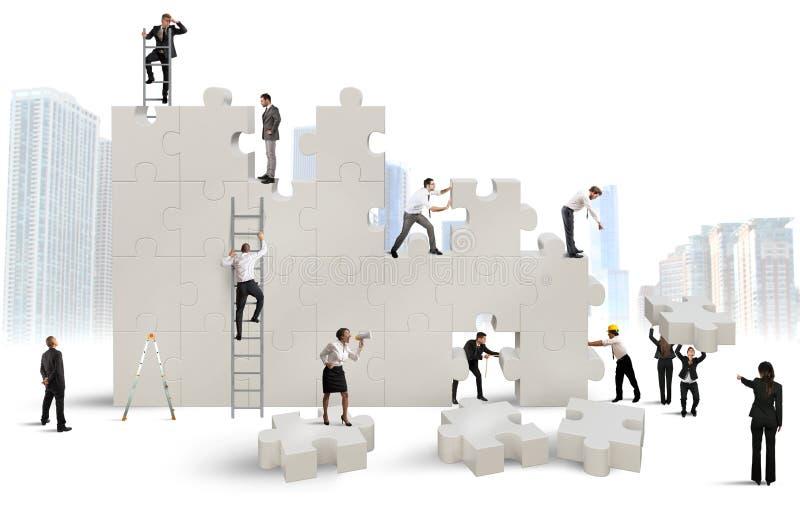 Bouw een nieuw bedrijf royalty-vrije illustratie