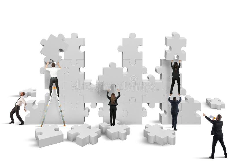 Bouw een nieuw bedrijf stock illustratie