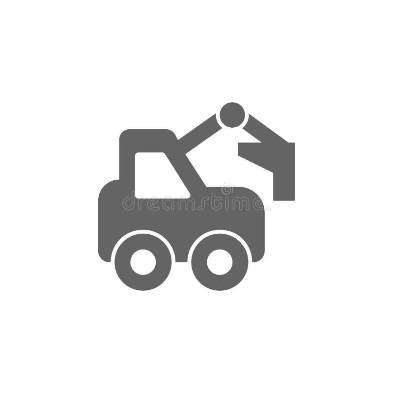 Bouw, graver, graafwerktuigpictogram Element van eenvoudig vervoerpictogram Grafisch het ontwerppictogram van de premiekwaliteit  vector illustratie