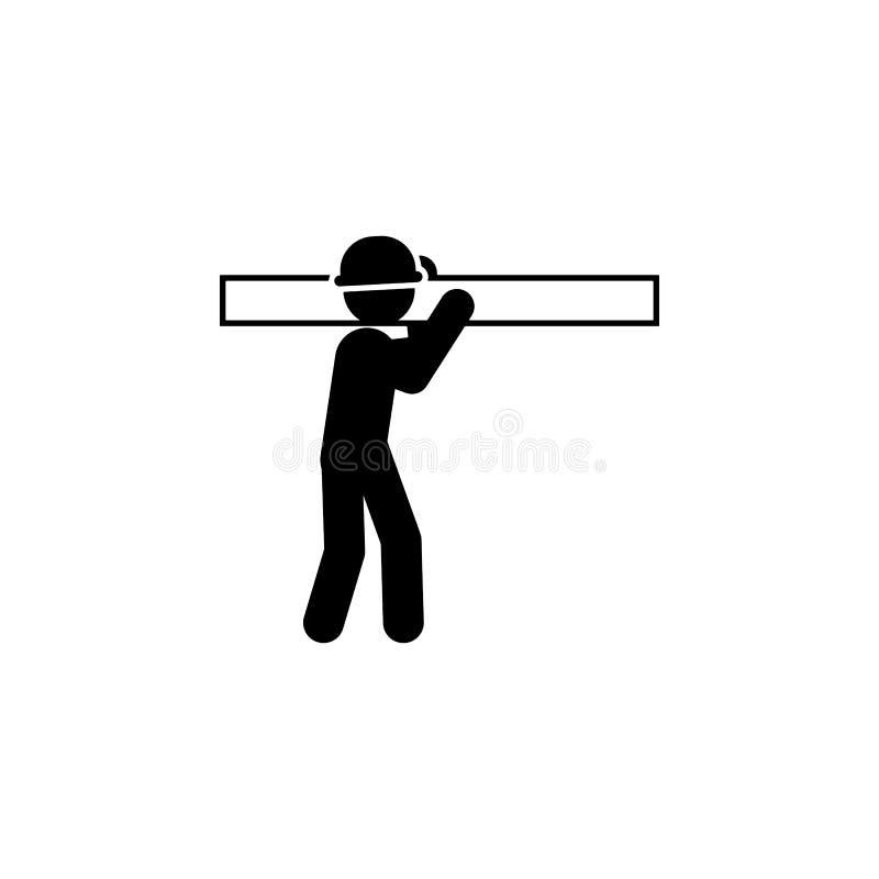bouw, het pictogram van de raadsarbeider Element van bouwvakker voor mobiel concept en Web apps Gedetailleerde bouw, raadspictogr royalty-vrije illustratie