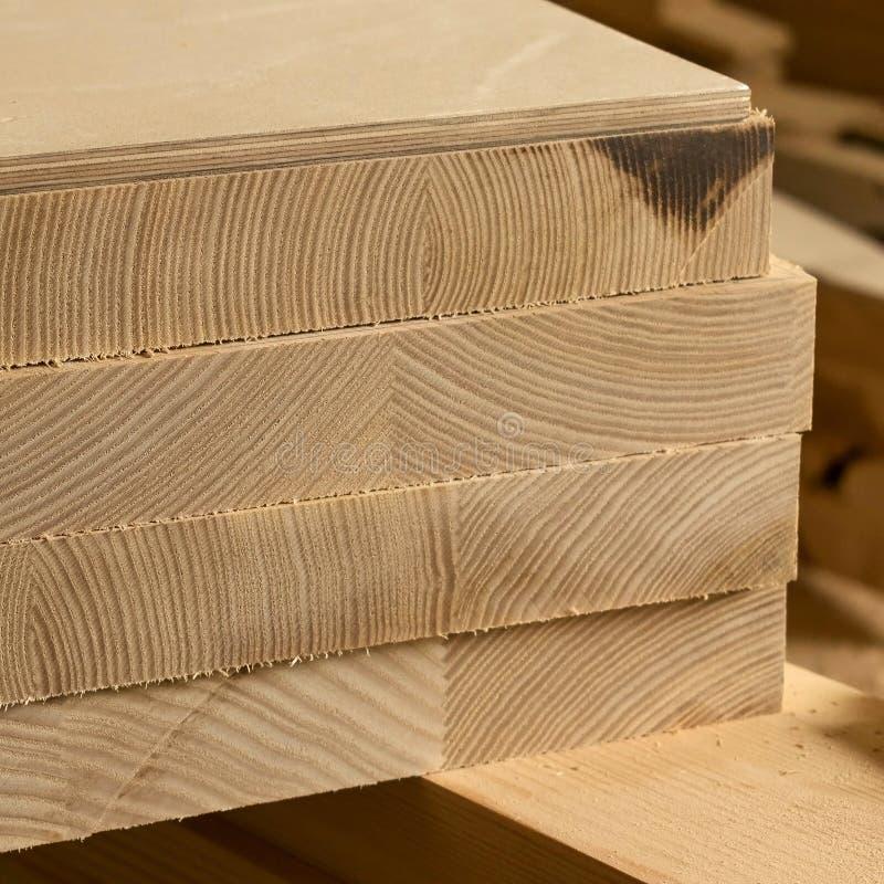 Bouw houten raad, close-up royalty-vrije stock afbeelding