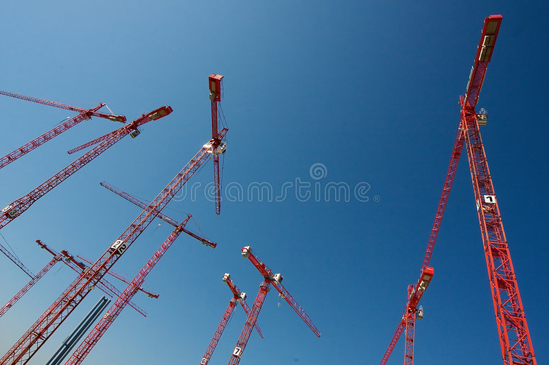 Bouw Kranen stock foto