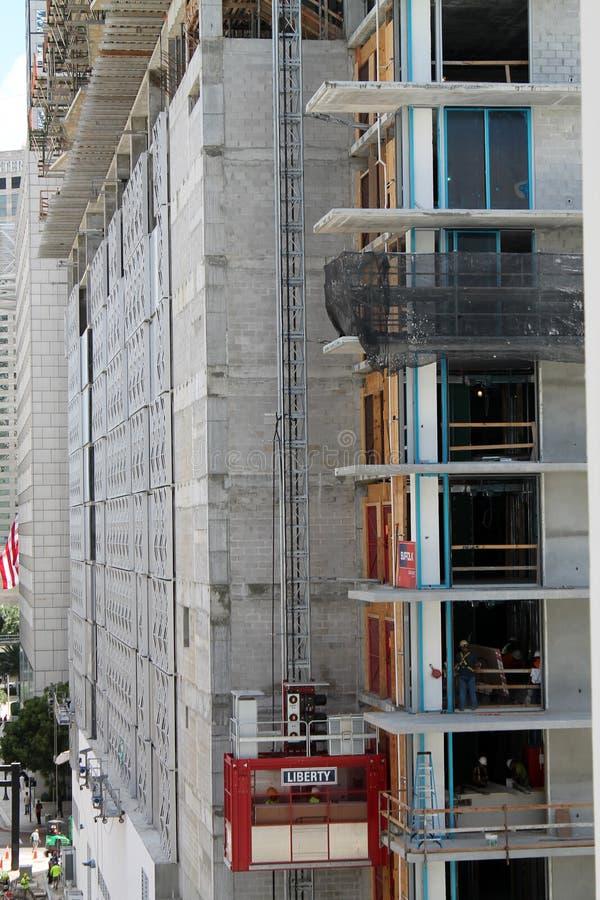 bouw in Miam Van de binnenstad royalty-vrije stock foto's
