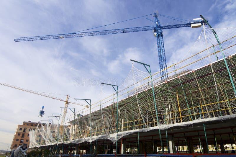 Bouw nieuwe concrete huizen royalty-vrije stock fotografie