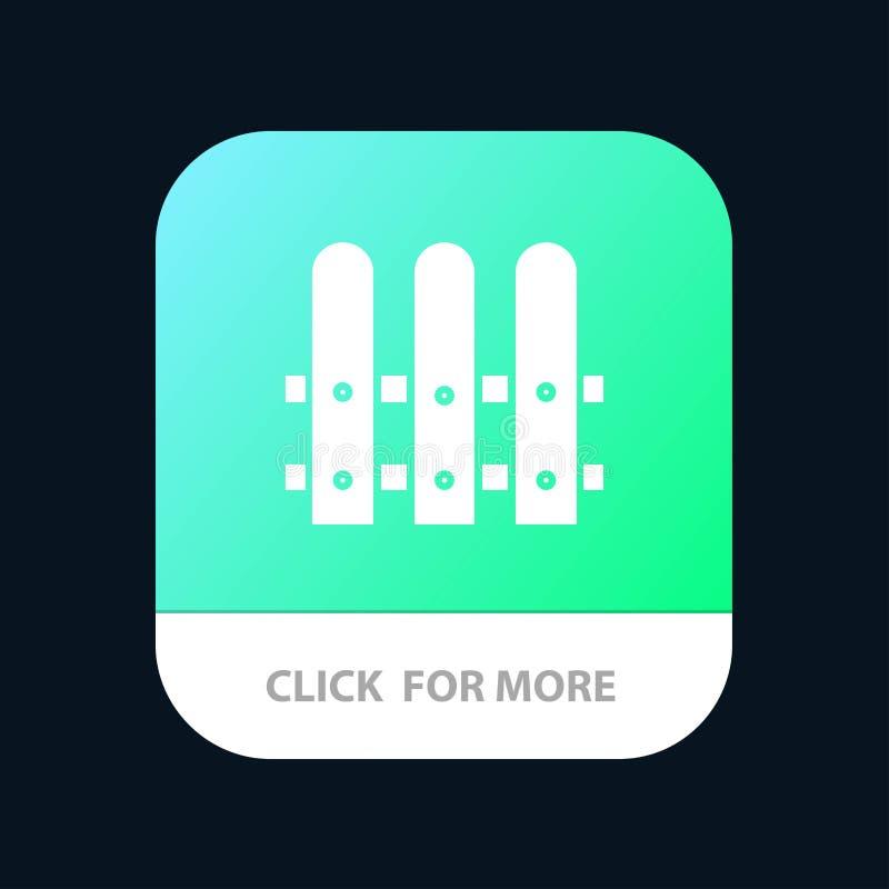 Bouw, Omheining, de Knoop van de Huismobiele toepassing Android en IOS Glyph Versie stock illustratie