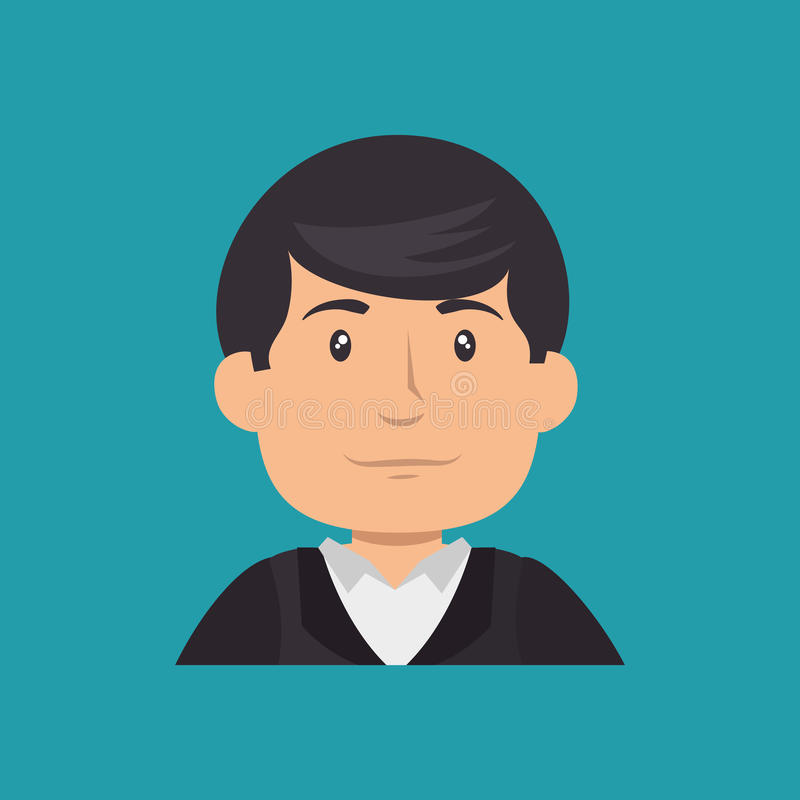 Bouw professioneel avatar karakter vector illustratie