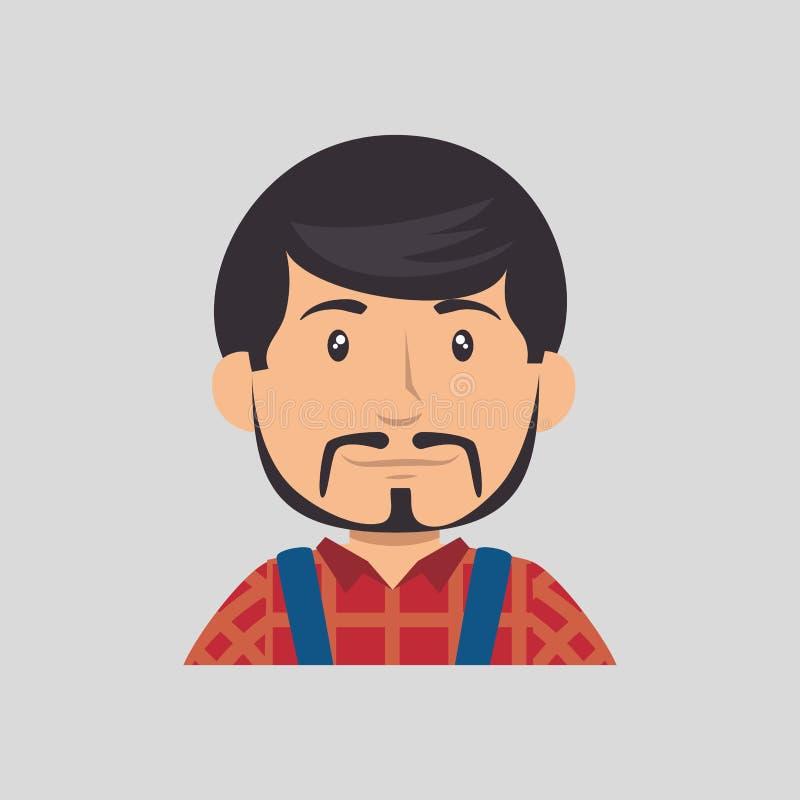 Bouw professioneel avatar karakter stock illustratie