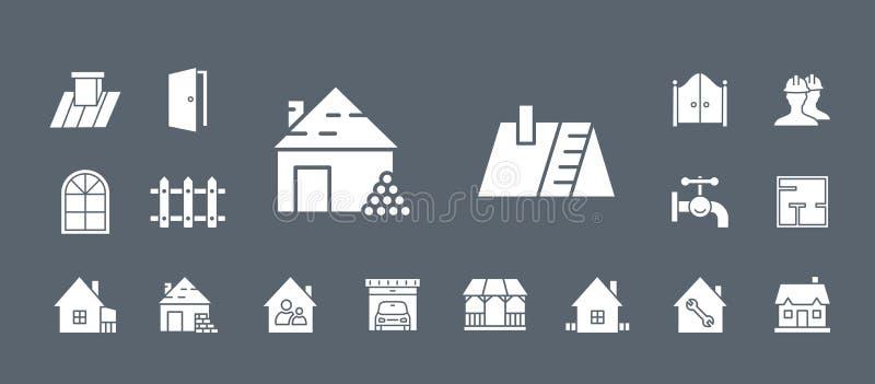 Bouw & Reparatiepictogrammen - Vastgesteld Web & Mobile 04 stock illustratie