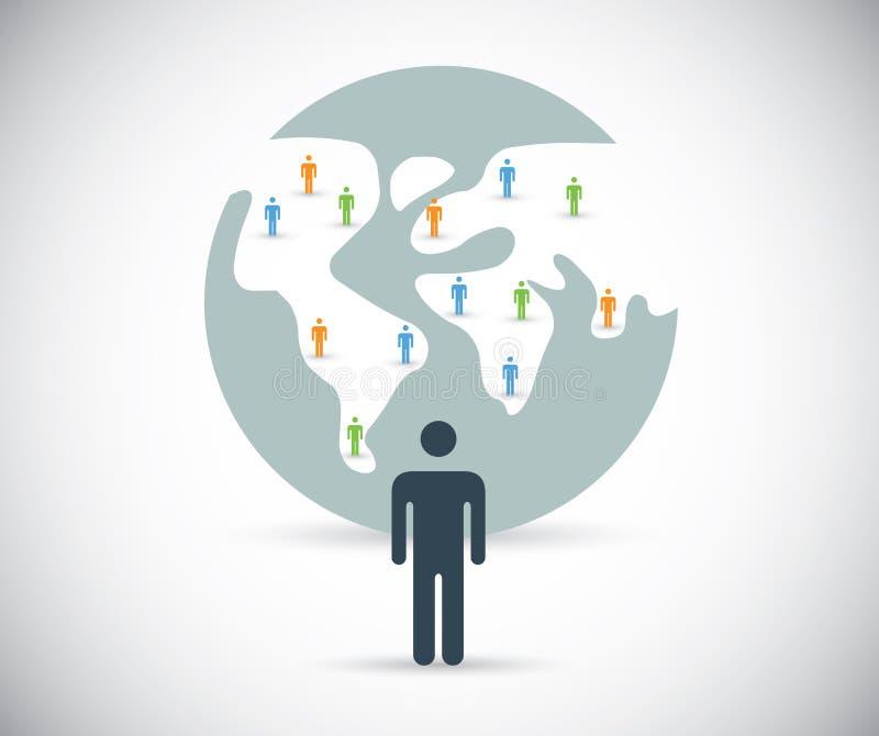 Bouw sociaal media netwerk vectorconcept stock illustratie