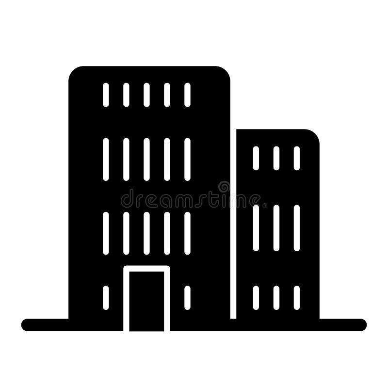 Bouw stevig pictogram Architectuur vectordieillustratie op wit wordt geïsoleerd Het ontwerp van de bureau glyph stijl, voor Web w royalty-vrije illustratie