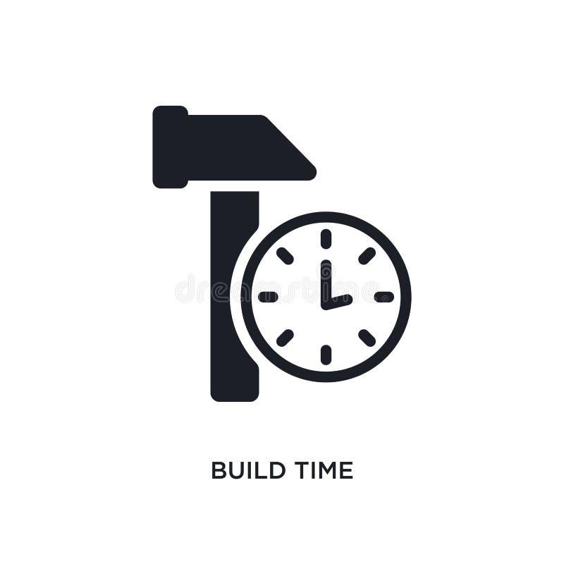 bouw tijd geïsoleerd pictogram eenvoudige elementenillustratie van algemeen-1 conceptenpictogrammen bouw ontwerp van het het teke royalty-vrije illustratie
