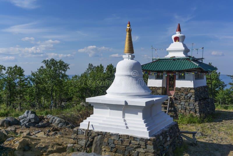 Bouw van een Boeddhistisch klooster stock fotografie