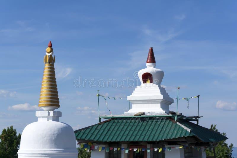 Bouw van een Boeddhistisch klooster royalty-vrije stock afbeeldingen