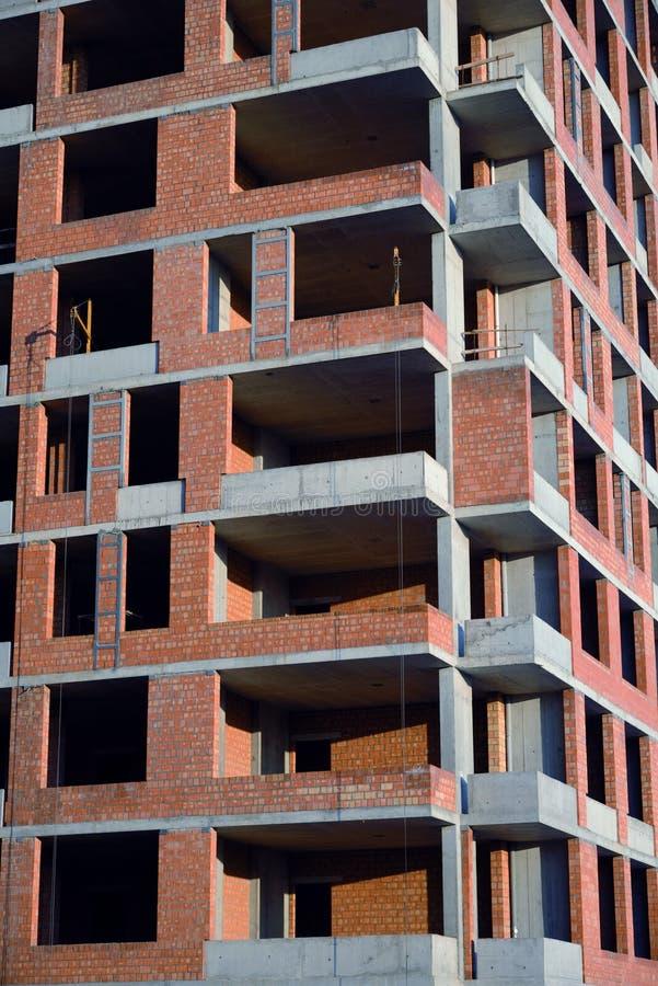 Bouw van een gebouw stock afbeeldingen