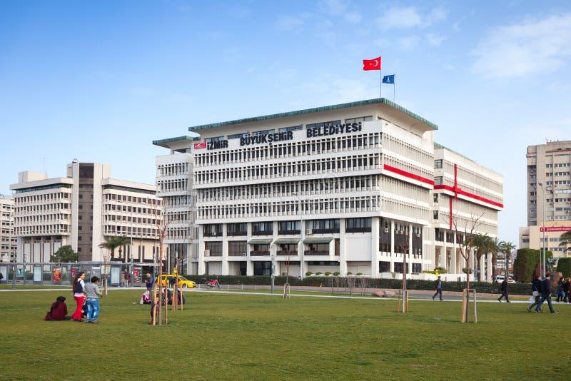 Bouw van het de Gemeentebureau van Izmir de Metropolitaanse royalty-vrije stock afbeeldingen