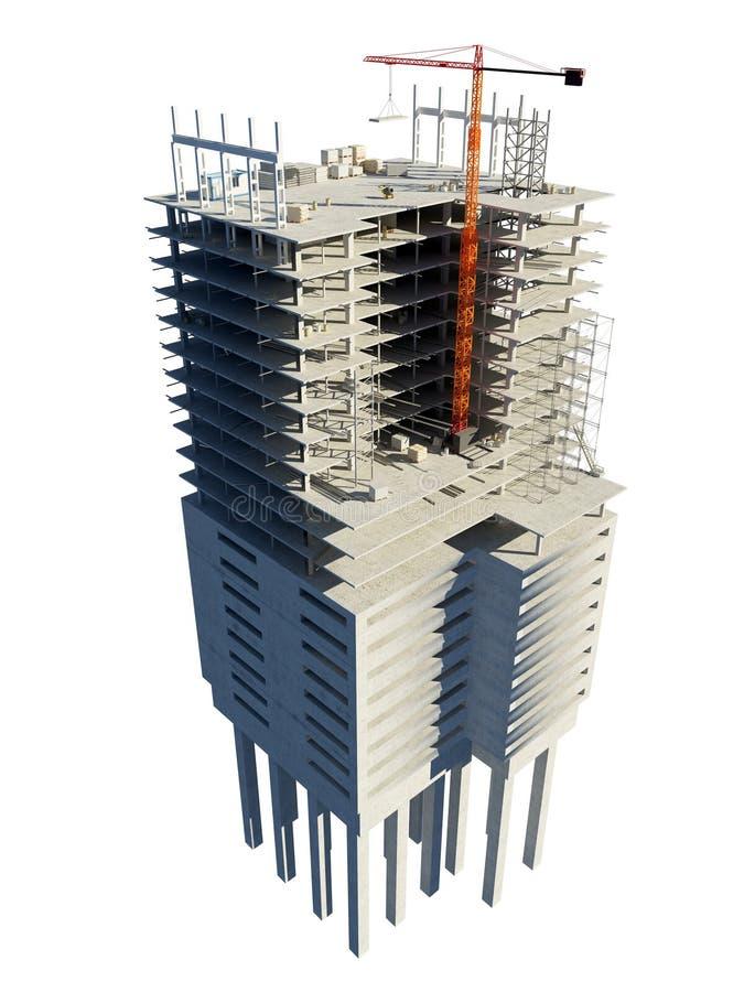 Bouw van het gebouw vector illustratie
