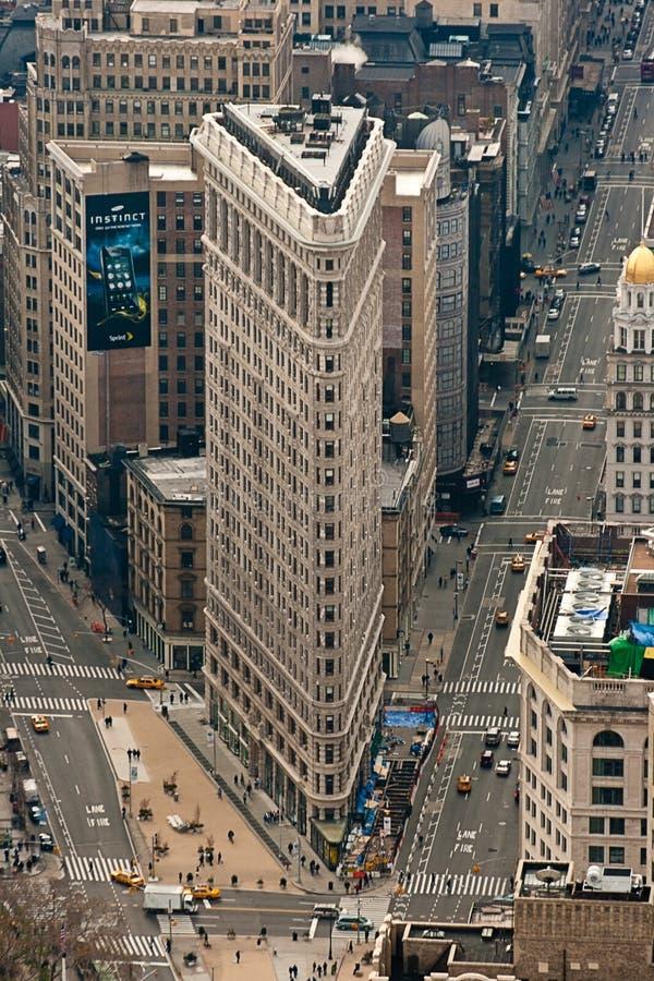 Bouw van het Ijzer van New York de Vlakke stock afbeelding