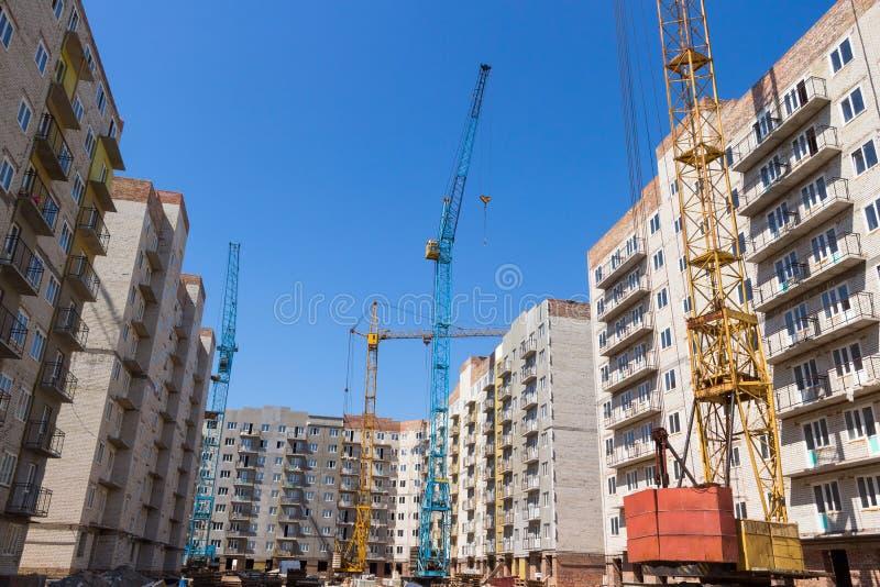 Bouw van high-rise flatgebouwen royalty-vrije stock fotografie