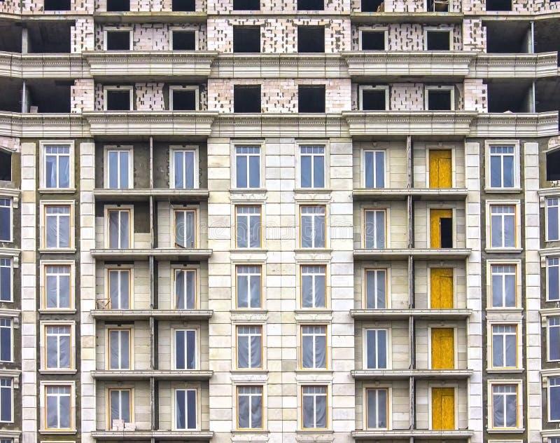 Bouw van hoge woningbouw, architectuur royalty-vrije stock afbeelding