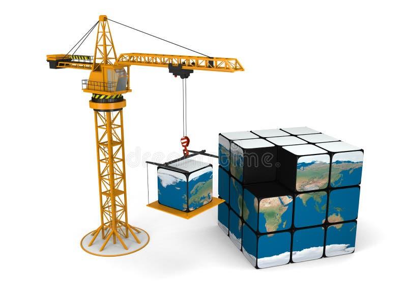 Bouw Wereld stock illustratie