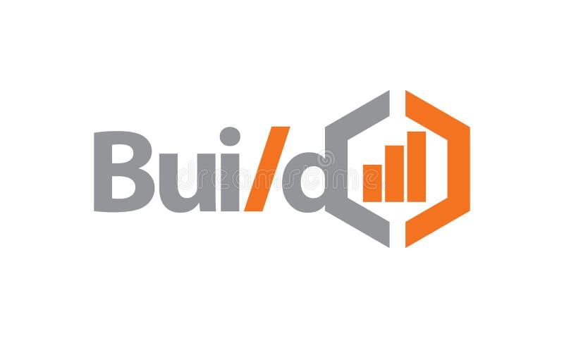 Bouw Zaken Logo Design Template stock illustratie