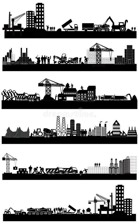 Bouwbouwterrein vector illustratie
