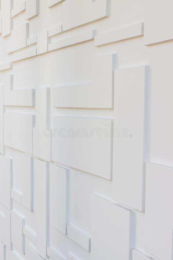Bouwdetails: Multi-niveausmuur voor externe decoratie royalty-vrije stock afbeelding