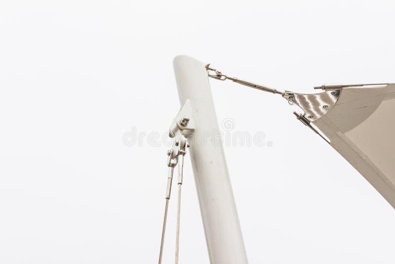 Bouwdetails: Roestvrij staalsteun om staal po rond te maken stock foto's
