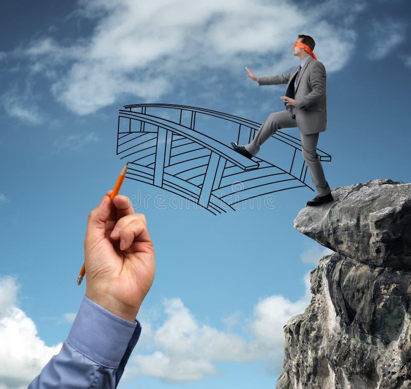 Bouwend bruggen - hulp voor zaken stock afbeelding