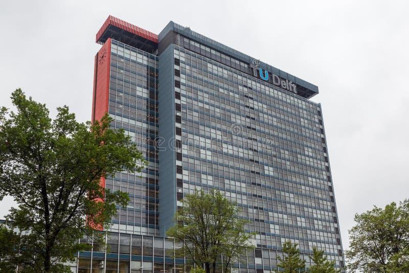 Bouwend elektrotechniek Technisch Universitair Delft, stock foto