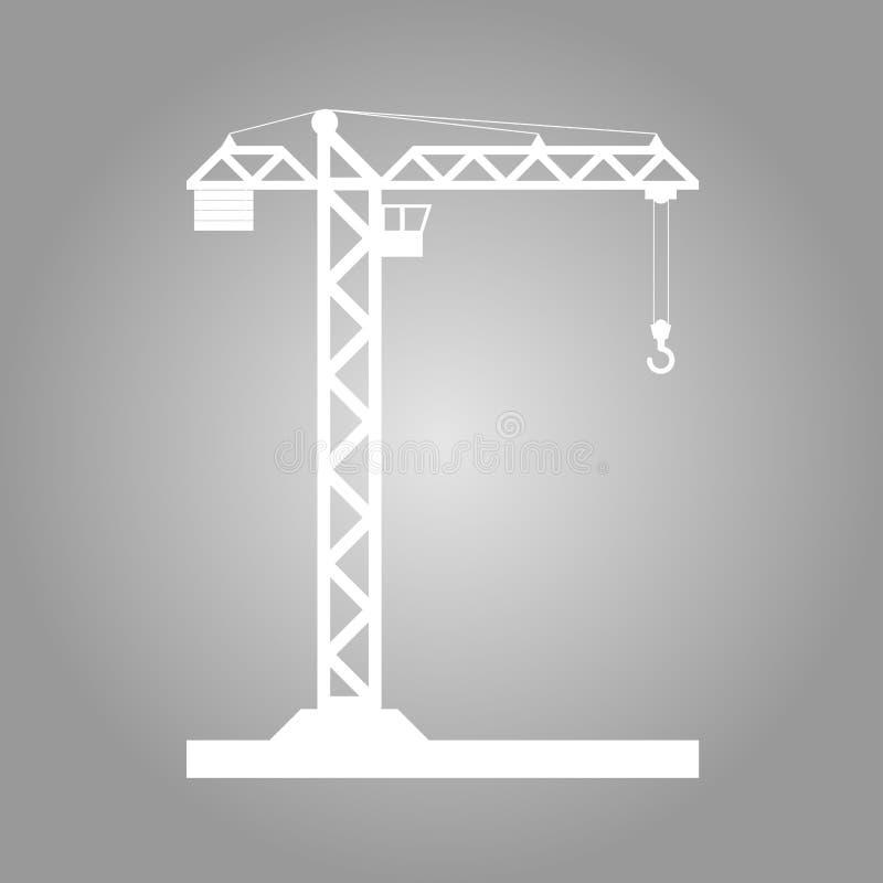 Bouwend het pictogram van de Torenkraan - vector royalty-vrije stock foto