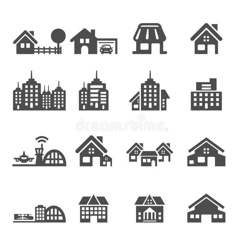 Bouwend pictogram plaats 5, vectoreps10 stock illustratie