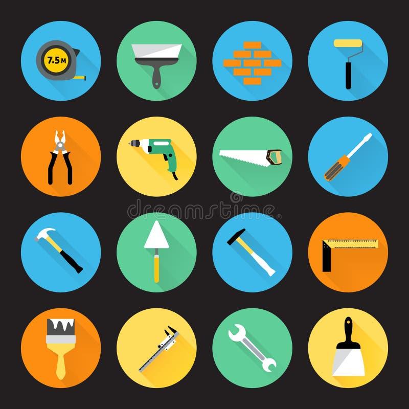 Bouwer Instruments Icons vector illustratie