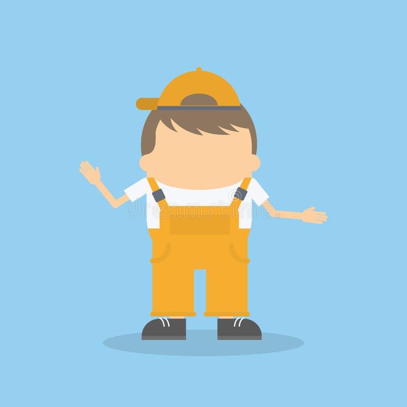 bouwersjong geitje vector illustratie