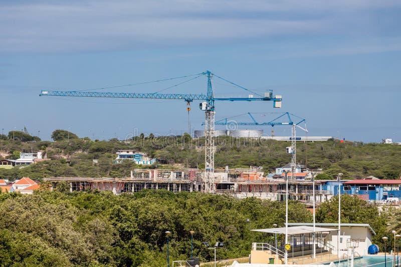 Bouwnijverheid in Curacao royalty-vrije stock foto's