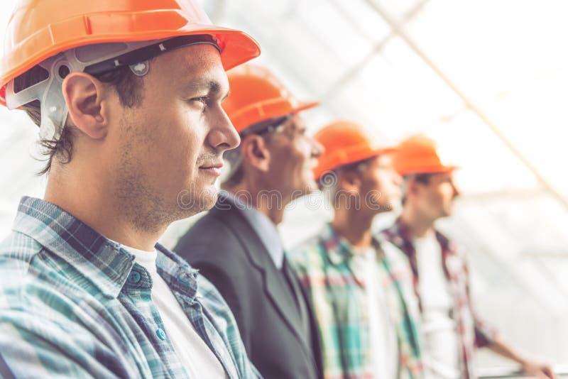 Bouwnijverheidsarbeiders royalty-vrije stock foto's