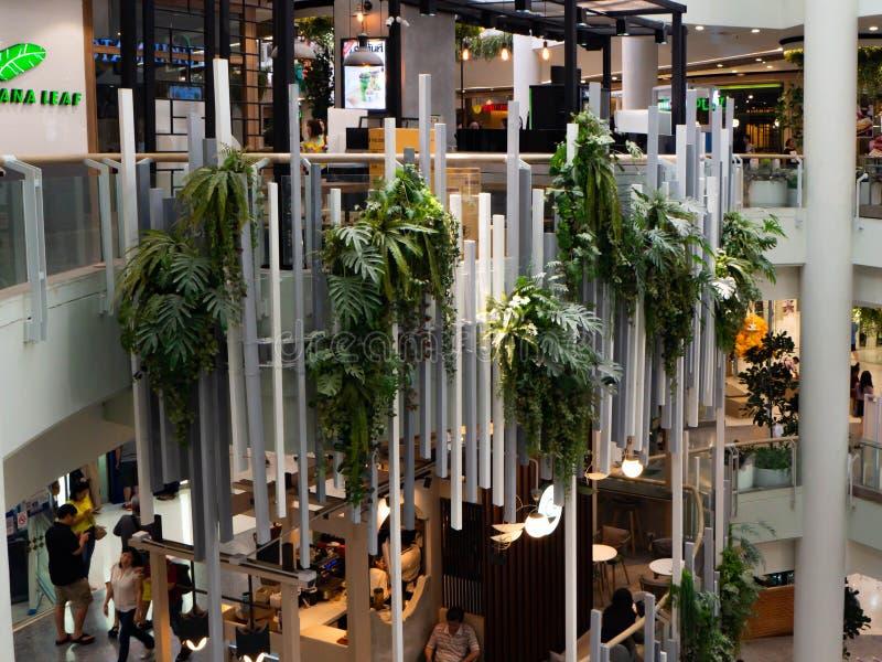 Bouwontwerpwinkelcomplex, Centrale Rama3, Bangkok, Thailand stock foto