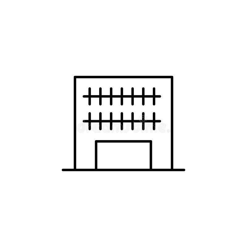 bouwpictogram Element van de bouw voor mobiel concept en Web apps iicon Dun lijnpictogram voor websiteontwerp en ontwikkeling, ap royalty-vrije illustratie