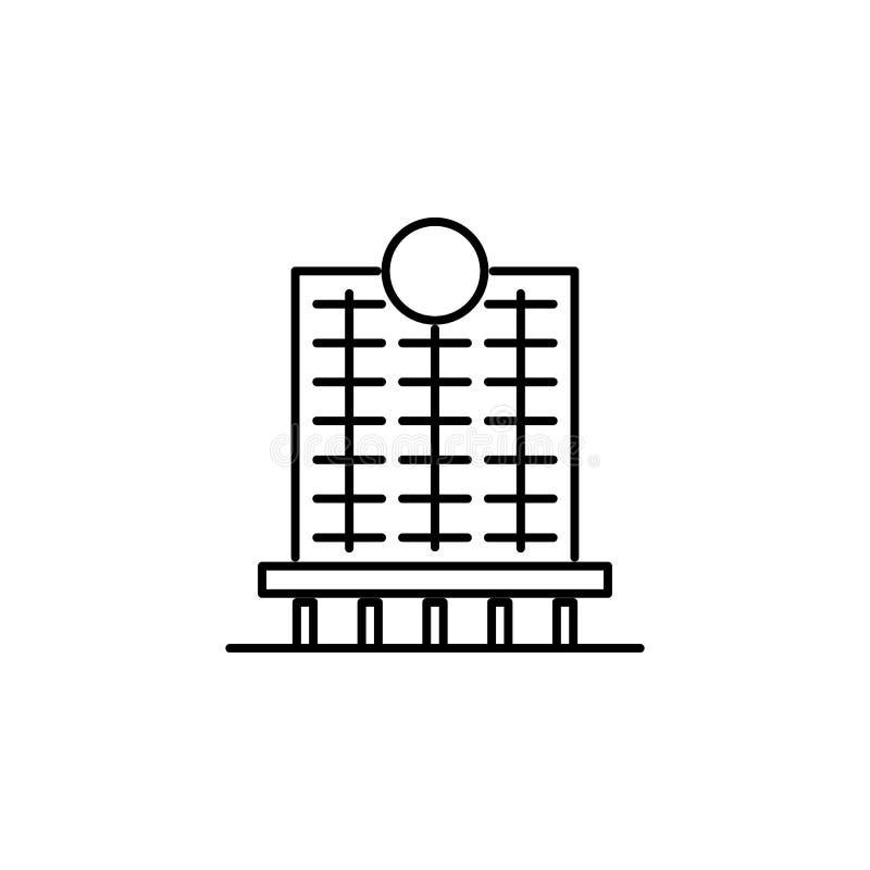 bouwpictogram Element van de bouw voor mobiel concept en Web apps iicon Dun lijnpictogram voor websiteontwerp en ontwikkeling, ap stock illustratie