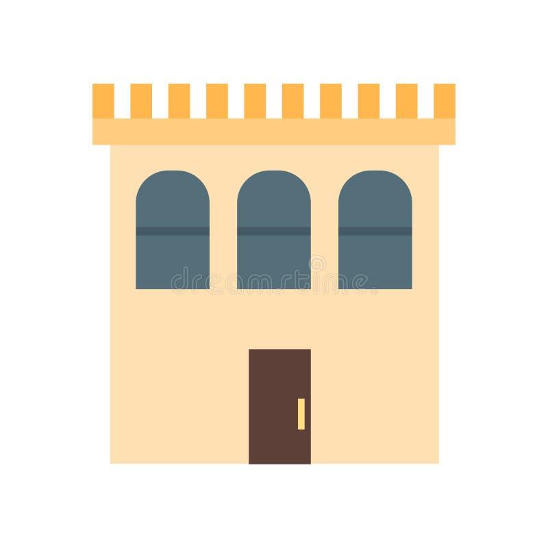 Bouwpictogram vectordieteken en symbool op witte achtergrond, het concept van het de Bouwembleem wordt geïsoleerd royalty-vrije illustratie