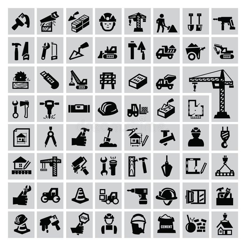 Bouwpictogrammen vector illustratie
