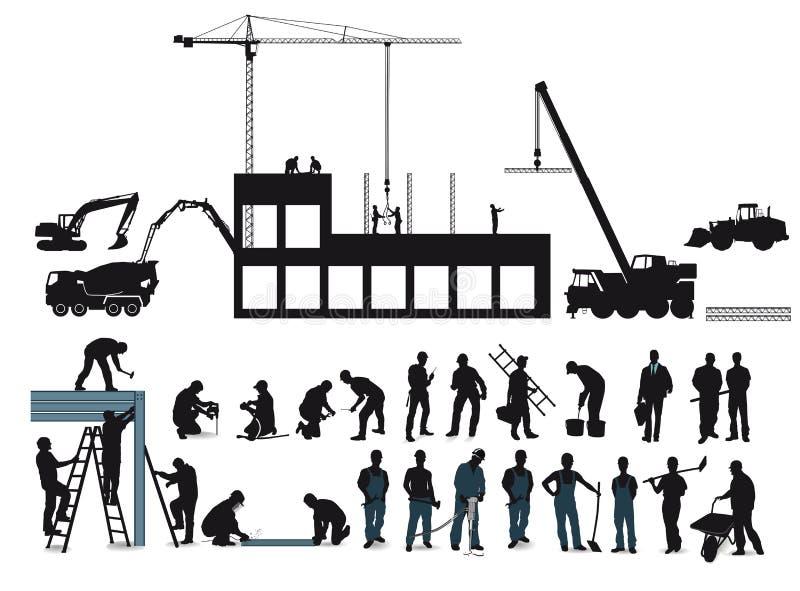 Bouwproject vector illustratie