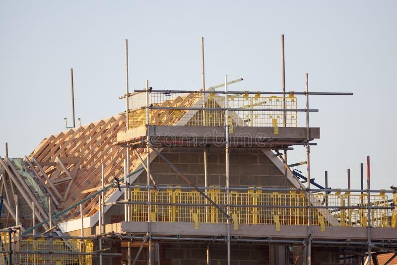 Bouwterrein met nieuwe huizen stock afbeelding for Verkoop huizen