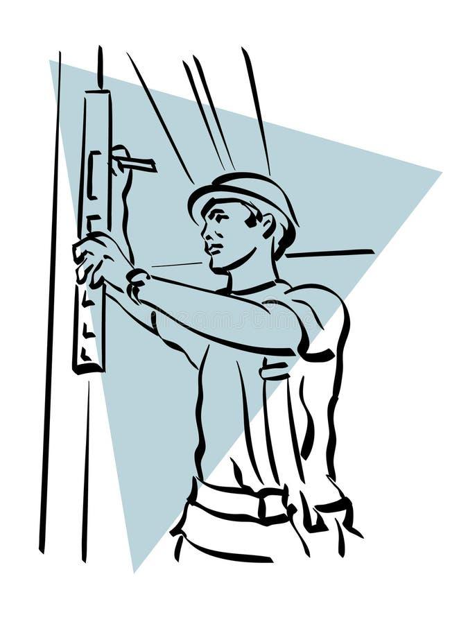 Bouwvakker stock illustratie
