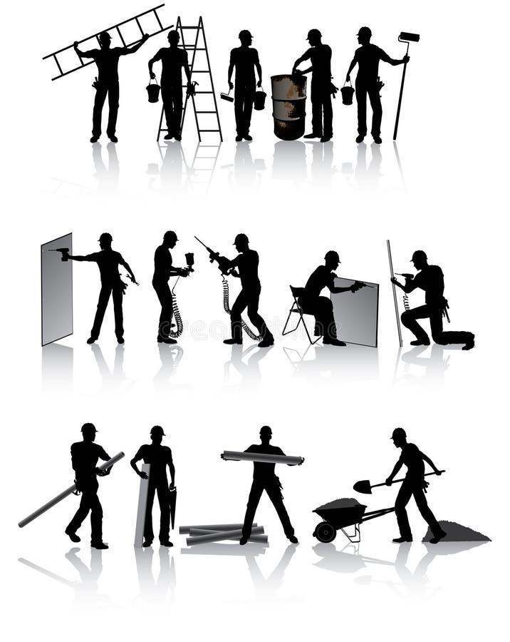 Bouwvakkers vector illustratie