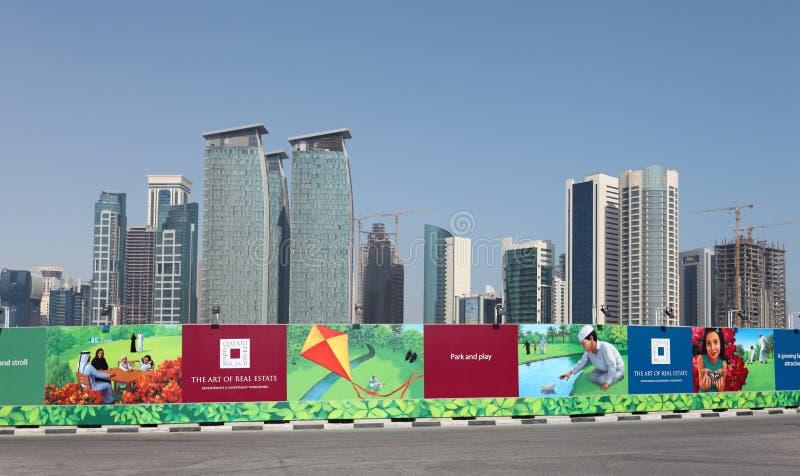 Bouwwerf in Doha, Qatar royalty-vrije stock foto's