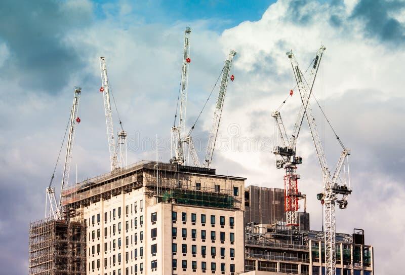 Bouwwerf in Londen van het grote bulding stock foto's